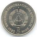 5 Mark DDR 1980 - Berlin, Hauptstadt der DDR (Brandenburger Tor) - Wertseite.JPG