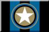 600px Nero e azzurro strisciato con stella.png