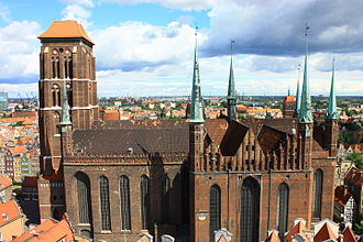St. Mary's Church, Gdańsk - Southern view