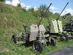 72-K anti-aircraft gun at the Muzeum Polskiej Techniki Wojskowej in Warsaw.jpg
