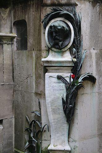 Alphonse Daudet - Daudet's Grave at Pere Lachaise Cemetery, Paris