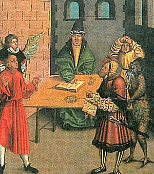 Thou shalt not bear false witness against thy neighbour - You shall not bear false witness against your neighbor, Lucas Cranach the elder
