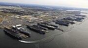 9 Flattops at Norfolk naval base, December 20, 2012