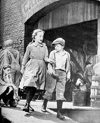A Tree Grows in Brooklyn (1945 film) - Peggy Ann Garner and Ted Donaldson in A Tree Grows in Brooklyn