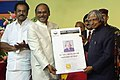 A.P.J. Abdul Kalam receiving the Multi Purpose Card from the Vice Chancellor of Anna University, Dr. D. Viswanathan.jpg