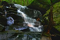 A298, Waterfall, Green Mountain National Forest, Vermont, USA, 2010.JPG