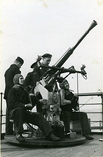 Bofors 25 mm M/32 - Image: AA gun on HMS Malmö