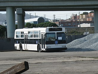 San Francisco Police Department - A SFPD squad transportation bus.