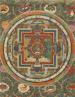A Thangka depicting a Vajra Nairatmya Mandala. Tibet, 18th-Century