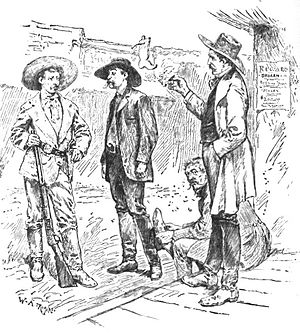 Tombstone, Arizona - Tombstone sheriff and constituents, an illustration from Mexico, California and Arizona; Being a New and Revised Edition of Old Mexico and Her Lost Provinces