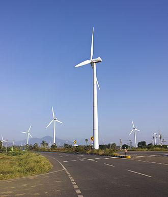 Wind power in India - Muppandal Wind farm near NH44