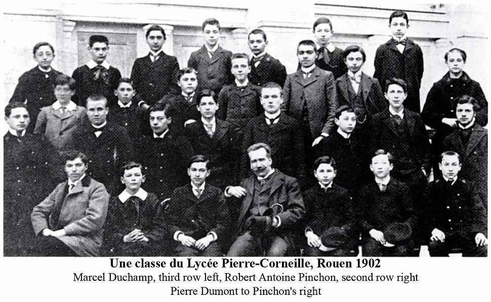 A class at the Lycée Pierre-Corneille, Rouen 1902, Robert Antoine Pinchon and Marcel Duchamp