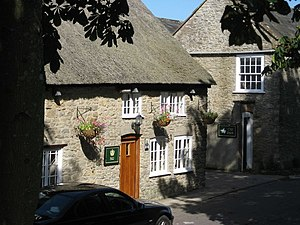 Puncknowle - Image: A glimpse of the Crown at Puncknowle geograph.org.uk 1451648