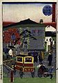A horse-drawn public carriage crosses Kyōbashi bridge i Wellcome V0047396.jpg