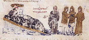 A monk shows the Cretan Saracens where to build Chandax