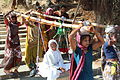 A nun being carried Jain culture religion rites rituals sights.jpg