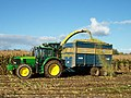 A slight overspill as the maize is transferred from the forage harvester to the trailer - geograph.org.uk - 586918.jpg