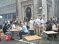 A smoky meal outside St Mary-le-Bow - geograph.org.uk - 890404.jpg