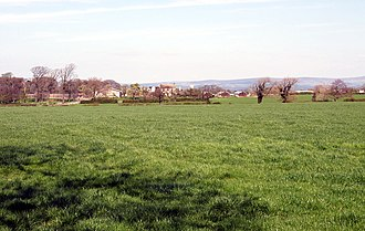Salwick - Image: A view of Salwick with the Trough of Bowland in the background. Photograph by Brian Young 2011