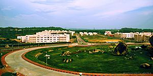 Birla Institute of Technology and Science, Pilani – Hyderabad Campus - The road leading to the hostels from the Academic Block