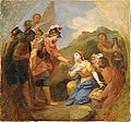 Abigail Offering Bread to David - by Louis de Boullogne, 1700.jpg