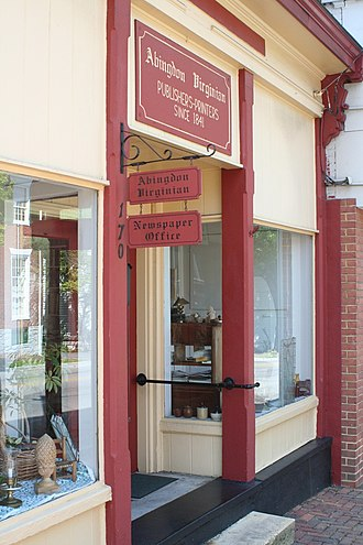 Abingdon, Virginia - Office of the Abingdon Virginian newspaper