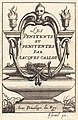 """Abraham Bosse, Frontispiece for Callot's """"The Penitents"""", NGA 51389.jpg"""