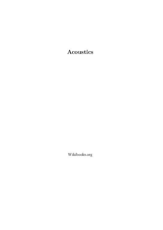 encyclopedia of acoustics crocker pdf