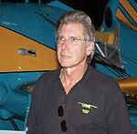 Actor Harrison Ford touring the Air Force Museum in Dayton, Ohio (cropped).JPG