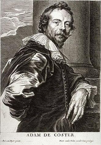 Adam de Coster - Adam de Coster by Pieter de Jode II after Anthony van Dyck