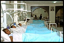 A row of women patients in bed in an Ethiopian fistula hospital