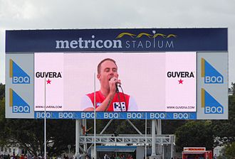 Carrara Stadium - The videoboard.