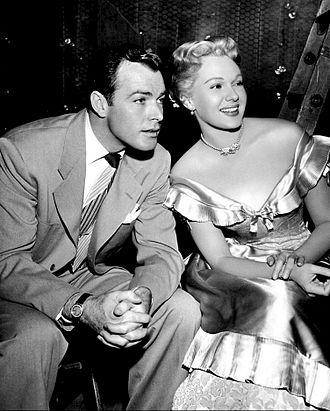 Adele Jergens - Jergens and Glenn Langan in 1950