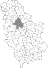 Location within Serbia