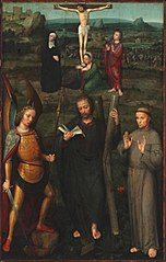 Crucifixion with Saints Michael Archangel, Andrew, and Francis of Assisi