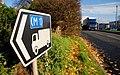 Advisory route sign, Lisburn - geograph.org.uk - 2151110.jpg
