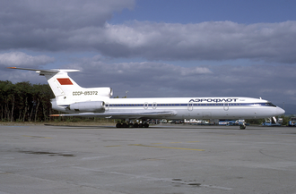 Aeroflot accidents and incidents in the 1980s - An Aeroflot Tupolev Tu-154B-2 at Euroairport. (1985)