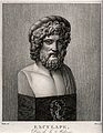 Aesculapius. Engraving by A.J. Mécou after Vauthier. Wellcome V0035837.jpg