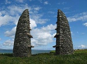 Aignish - Memorial cairn