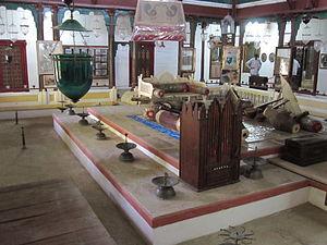 Aina Mahal - The pleasure room of Rao Lakhpatji in Aina Mahal.