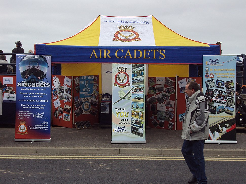 Air Cadets stall, Southport.JPG