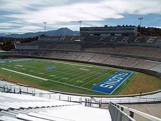 Falcon Stadium - From northeast corner in 2008