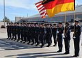Airmen from the 49th Fighter Wing and the German Air Force Flying Training Center, wait for Franz Josef Jung, German Minister of Defense.jpg