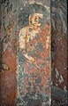 Ajanta Cave 10 pillar paintings with red robe.jpg