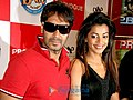 Ajay Devgan and Mugdha Godse promote All The Best at the Provogue store (5).jpg