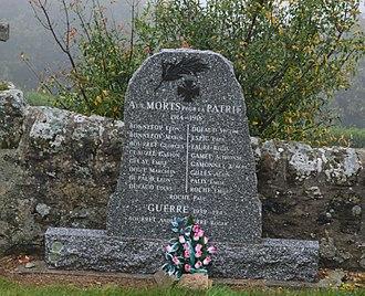 Ajoux - Ajoux War Memorial