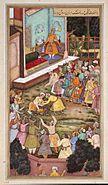 Akbar Fights with Raja Man Singh
