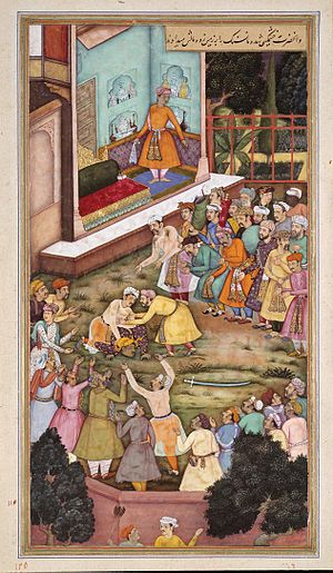 Man Singh I - Image: Akbar Fights with Raja Man Singh