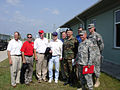 Alan Hester, Craig Jones, Bob Hamilton with the Senators Senators John McCain and Richard Burr at Senaki Military Base (August 2006).jpg