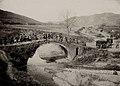 Albanien; Alte römische Brücke als Feldbahnbrücke, 1916-1918 (AT-OeStA-KA BS I WK Fronten Albanien, 1373).jpg